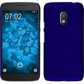Hardcase für Motorola Moto G4 Play gummiert blau