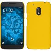 Hardcase Moto G4 Play gummiert gelb + 2 Schutzfolien