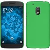 Hardcase Moto G4 Play gummiert grün + 2 Schutzfolien