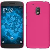 Hardcase Moto G4 Play gummiert pink + 2 Schutzfolien