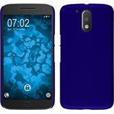 Hardcase Moto G4 Plus gummiert blau