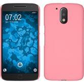 Hardcase Moto G4 Plus gummiert rosa
