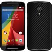 Hardcase für Motorola Moto G 2014 2. Generation Carbonoptik schwarz