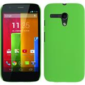 Hardcase for Motorola Moto G rubberized green