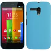 Hardcase for Motorola Moto G rubberized light blue