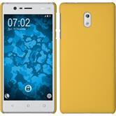 Hardcase für Nokia 3 gummiert gelb