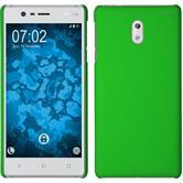Hardcase für Nokia 3 gummiert grün