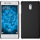 Hardcase für Nokia 3 gummiert schwarz