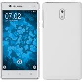 Hardcase für Nokia 3 gummiert weiß