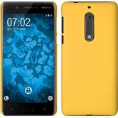 Hardcase für Nokia 5 gummiert gelb