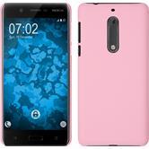 Hardcase Nokia 5 gummiert rosa + 2 Schutzfolien