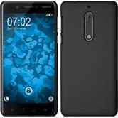 Hardcase Nokia 5 gummiert schwarz + 2 Schutzfolien