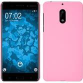Hardcase Nokia 6 gummiert rosa + 2 Schutzfolien