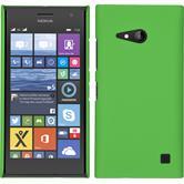 Hardcase Nokia Lumia 730 gummiert grün + 2 Schutzfolien