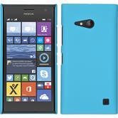 Hardcase Nokia Lumia 730 gummiert hellblau + 2 Schutzfolien