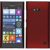 Hardcase für Nokia Lumia 730 gummiert rot