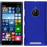 Hardcase Nokia Lumia 830 gummiert blau + 2 Schutzfolien