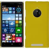 Hardcase Nokia Lumia 830 gummiert gelb + 2 Schutzfolien