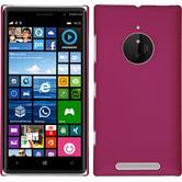 Hardcase Nokia Lumia 830 gummiert pink + 2 Schutzfolien