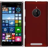 Hardcase Nokia Lumia 830 gummiert rot + 2 Schutzfolien