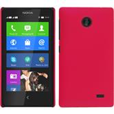 Hardcase for Nokia X / X+ rubberized hot pink