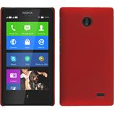 Hardcase for Nokia X / X+ rubberized red