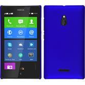 Hardcase Nokia XL gummiert blau + 2 Schutzfolien