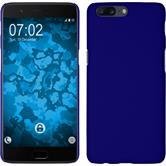 Hardcase OnePlus 5 gummiert blau + 2 Schutzfolien