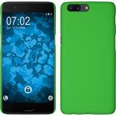 Hardcase OnePlus 5 gummiert grün + 2 Schutzfolien