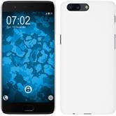 Hardcase OnePlus 5 gummiert weiß + 2 Schutzfolien