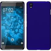 Hardcase OnePlus X gummiert blau