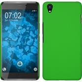 Hardcase für OnePlus OnePlus X gummiert grün