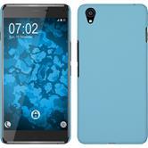 Hardcase für OnePlus OnePlus X gummiert hellblau