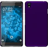 Hardcase OnePlus X gummiert lila