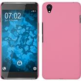 Hardcase OnePlus X gummiert rosa