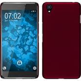 Hardcase OnePlus X gummiert rot