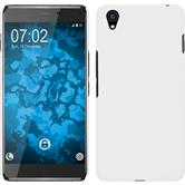Hardcase für OnePlus OnePlus X gummiert weiß