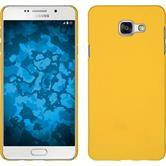 Hardcase Galaxy A3 (2016) A310 gummiert gelb + 2 Schutzfolien