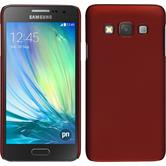 Hardcase für Samsung Galaxy A3 (A300) gummiert rot