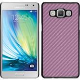 Hardcase Galaxy A5 (A500) Carbonoptik pink + 2 Schutzfolien