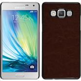Hardcase Galaxy A5 (A500) Lederoptik braun