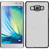 Hardcase for Samsung Galaxy A5 leather optics white