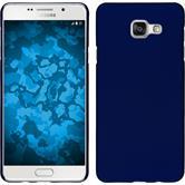 Hardcase Galaxy A7 (2016) A710 gummiert blau + 2 Schutzfolien