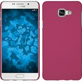 Hardcase Galaxy A7 (2016) A710 gummiert pink + 2 Schutzfolien