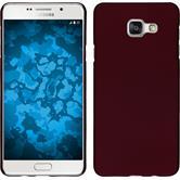 Hardcase Galaxy A7 (2016) A710 gummiert rot + 2 Schutzfolien