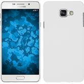 Hardcase Galaxy A7 (2016) A710 gummiert weiß + 2 Schutzfolien