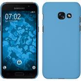 Hardcase Galaxy A7 (2017) rubberized light blue