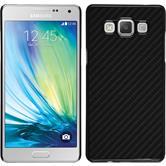 Hardcase Galaxy A7 (A700) Carbonoptik schwarz + 2 Schutzfolien