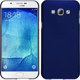 Hardcase Galaxy A8 gummiert blau