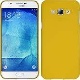 Hardcase Galaxy A8 gummiert gelb